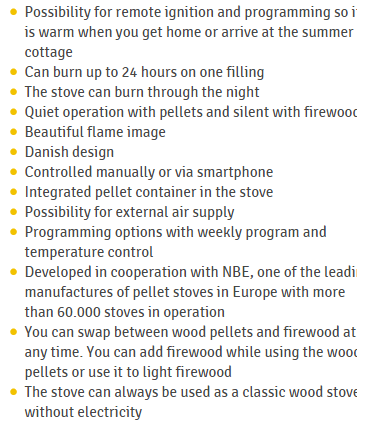 Aduro H1 Hybrid stove wood and pellet information